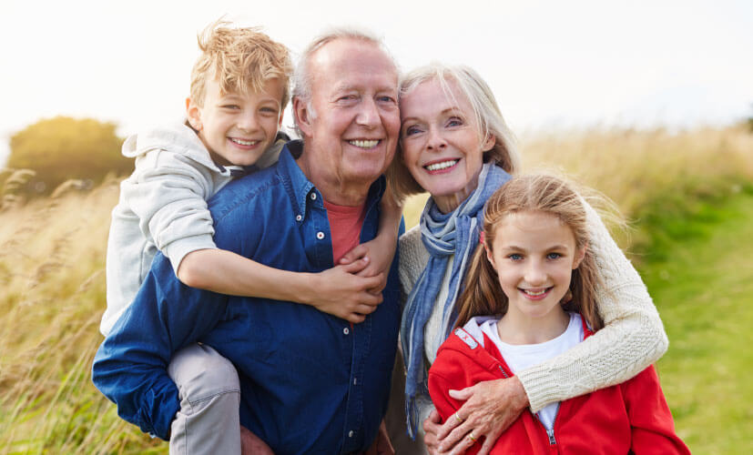 Familienfoto richtiger Ausschnitt